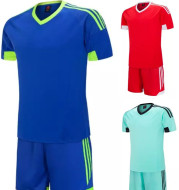 Light plate soccer suit, short sleeve shirt for men and women, football training dress for primary and secondary school students, customized light plate uniforms