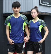 Short sleeved men's and women's badminton suits, quick dry, breathable T-shirt, T-shirt