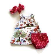Children's Suit Girl Baby Baby Three-Piece Shorts + Headband + Dress