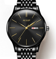 Wholesale waterproof watches, men's automatic mechanical watches, steel tape, business calendar, functional wholesale table