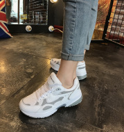 2021 spring summer new Korean uizzang Harajuku sport shoes, running shoes soled shoes light