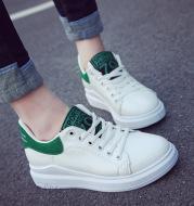 Flat women's shoes soft white shoes
