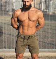 Running fitness three-point pants