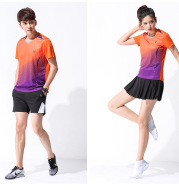 2021 new style matches, badminton players, short sleeve tennis suits, men and women volleyball clothes
