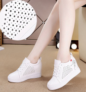 A new flat bottom casual sports shoes, increase single shoes female students, small white shoes wholesale