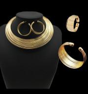 Nigeria bride Necklace Set multi alloy accessories four sets of cross-border supply Necklace suit