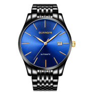 Crown watch watches men's mechanical watches, full automatic steel watch, men's waterproof day (Ou Xinkuan)