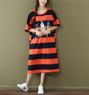 Striped fat mm dress