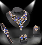 Four-piece Bridal Clothing Accessories Necklace Earrings