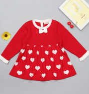 TS ins explosion girl princess dress with a seven wool dress baby cotton knitted skirt
