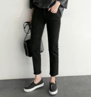 nine-point high waist loose trousers