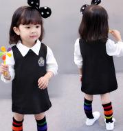 2021 new autumn baby children aged 1-2-3 4 female baby girls college style dress dress