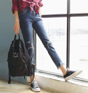 Slim-fit flared cropped pants