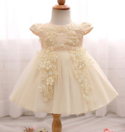 Foreign trade hot new baby baby dress, flower child skirt inlaid bead princess dress skirt can wholesale