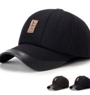 Middle-aged men's hat autumn and winter baseball cap