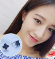 S925 silver needle simple earrings for women