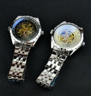 Men's waterproof hollow automatic mechanical watch