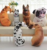 Funny 3D Dog Print Throw Pillow Creative Cushion Cute Plush Doll Gift Home Decor