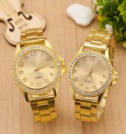 Gold fashion men's gold watch