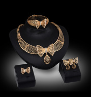 The new fashion jewelry and flowers necklace pendant jewelry set hot bride aliexpress goods