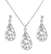 Yiwu wholesale fashion bridal accessories, water drop necklace, earring, Taobao hot Jewelry Set