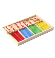 Math Manipulatives Wooden Counting Sticks Intelligence Montessori Math Wooden Color Calculation Education Enlightenment Toy