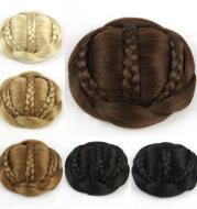 Braid hair bag braided bun