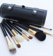 Barrel makeup brush set