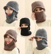 Thickened warm knitted woolen hat