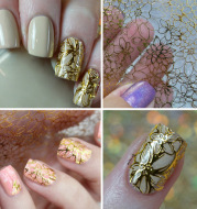 3d metal line hollow golden nail decals adhesive jewelry