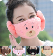 In autumn and winter in warm and thick ear mask mask ventilation dust cute Korean winter biking
