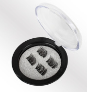 Lightweight magnetic eyelashes can be used repeatedly