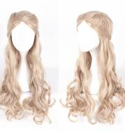 70cm braided long curly hair