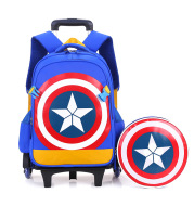 School Trolley Backpack for Boys Wheeled School Bag for Kids School Trolley Bag