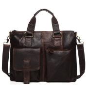 Male Baotou crazy horse leather layer man portable Shoulder Satchel retro casual briefcase