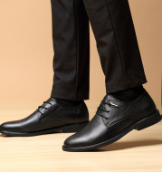 Summer high-end men's leather shoes leather