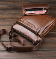 LEINASEN Mens Single Shoulder Bag Messenger Bag Handbag briefcase new male men cross-border trade one generation