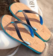 Wood grain flip flops