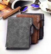 New men's short multifunctional Wallet Card Wallet Vintage multi personality card bag purse spot