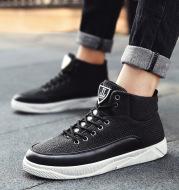Men's linen high-top shoes men's sports casual shoes