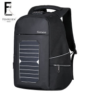 New solar charge outdoor double shoulder bag men business custom anti-theft backpack 15 inch Laptop Bag