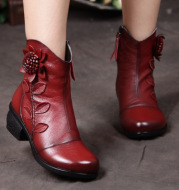 The new style of autumn winter in the new style, the handmade folk wind and the female shoes of the women's shoes