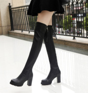 Women's boots high-heeled stovepipe boots