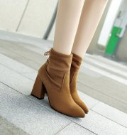 2021 autumn and winter fashion boots with pointed nubuck leather ladies boots boots boots with thick British leisure