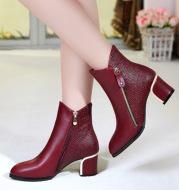 Ladies high-heeled boots