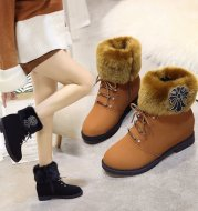 2021 new Martin winter boots female high-heeled shoes with thick cotton padded shoes and boots children cashmere lady fur boots