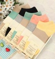 Loose stripe women's ship socks