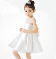 European and American flower girl dress wine red dark green children's dress princess dress piano clothes costumes