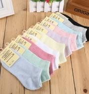 Solid color ladies socks