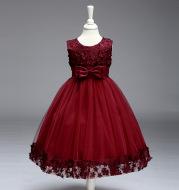 2021 summer skirt Kids Girls palace Princess Tutu flower children wedding dress wholesale show skirt